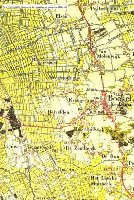 Historische kaart Boekel